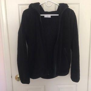 Aritzia Tna Black Teddy Jacket